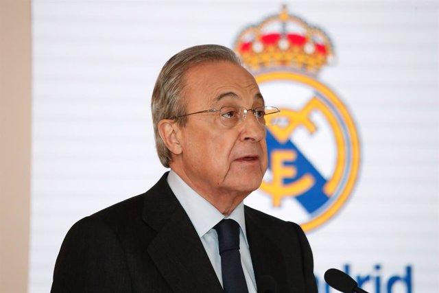 """Fútbol.- Florentino Pérez: """"Esta Liga siempre pasará a la historia del Real Madr"""