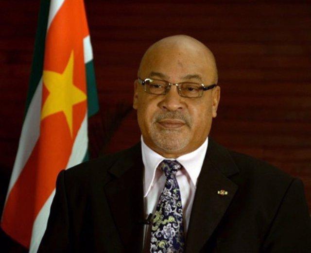 Desiré Delano Bouterse, presidente saliente de Surinam.
