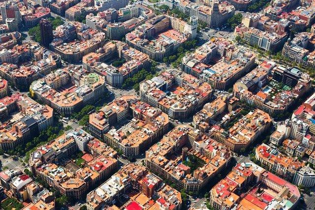 Fotografia aèria de Barcelona.