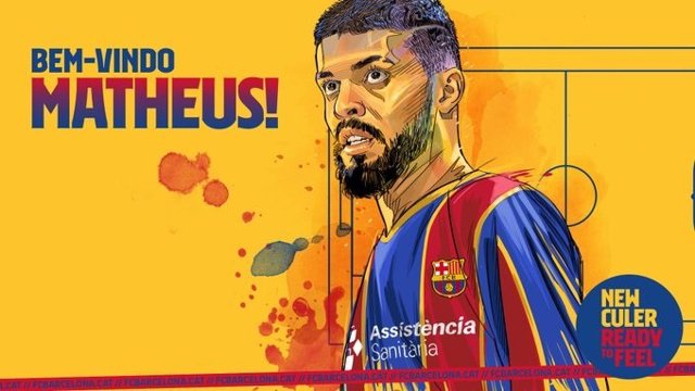 El nuevo jugador del Barça de fútbol sala, Matheus Rodrigues