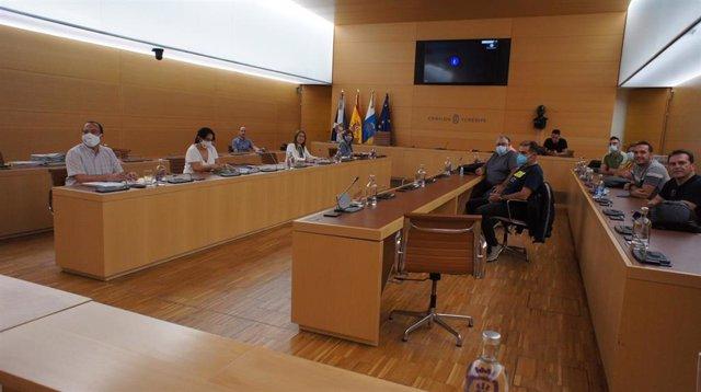 Reunión de la directora de Recursos Humanos del Cabildo de Tenerife, Lidia Pereira, comn los sindicatos