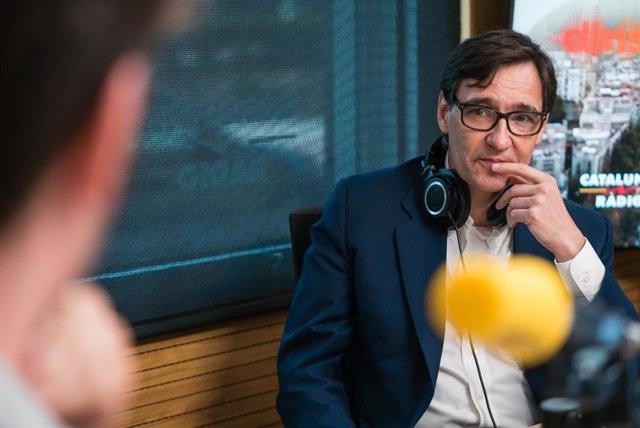 Salvador Illa en una entrevista a Catalunya Ràdio