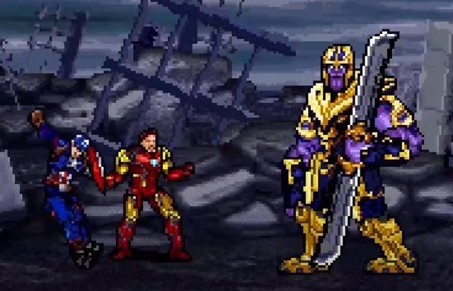 Versión 16 bits de Vengadores: Endgame