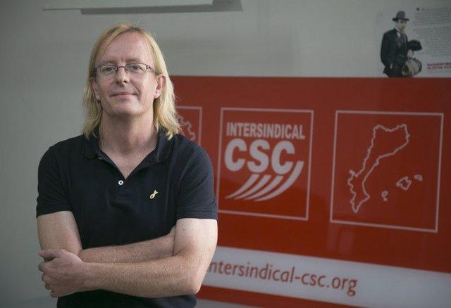 Sergi Perelló, secretario general de la Intersindical-CSC