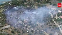 Fuego en la localidad de El Berrueco