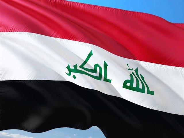 Una bandera de Irak.
