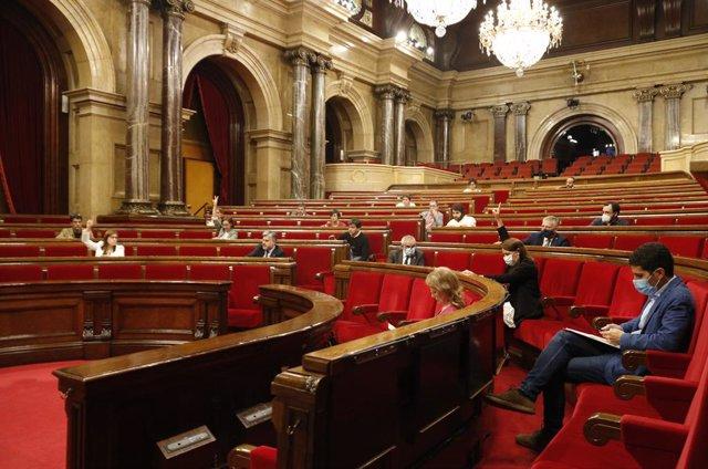 Ple del Parlament de Catalunya, en una imatge d'arxiu