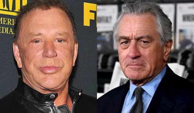 """Mickey Rourke amenaza a Robert De Niro por Instagram: """"Estoy hablando contigo, maldito llorón"""""""