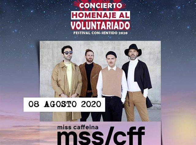 Cartel del concierto organizado por la Plataforma del Voluntariado de España para homenajear a los voluntarios por su labor durante la crisis del Covid-19
