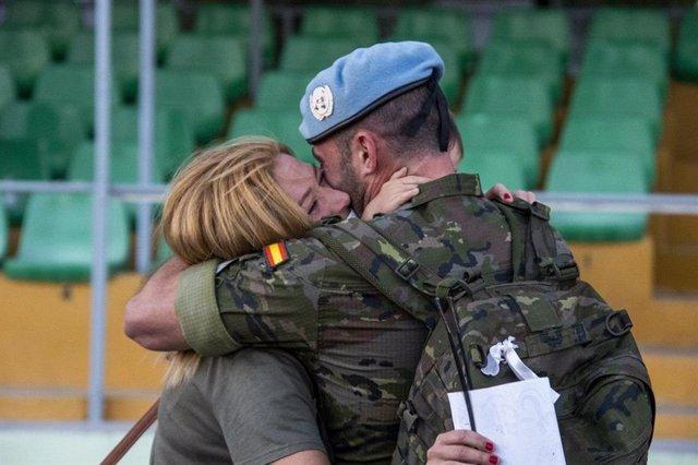 Un legionario regresa de Líbano tras siete meses de misión
