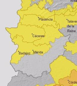 Alertas en Extremadura para el 21 de julio