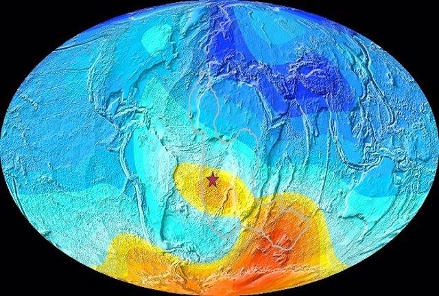 La anomalía magnética del Atlántico Sur es un fenómeno recurrente