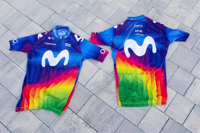 El maillot solidario del Movistar Team se usará en la Strade Bianche