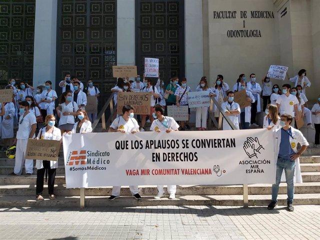 Protesta del colectivo MIR en València