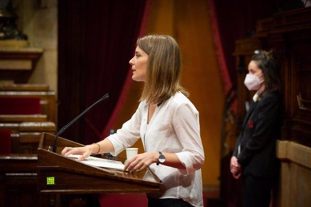 La presidenta de Catalunya en Comú Podem en el Parlament, Jéssica Albiach.