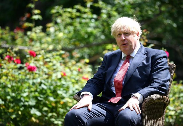 Boris Johnson en un acto en Londres