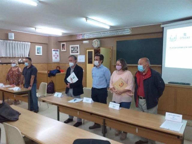 De izda a decha: Paloma Sicilia (USO); José María Cueto (Otecas); José López-Sela (FSIE); Ángel Gallo (CECE); Desiree Fernández (Concapa) y Carlos Robla (Escuelas Católicas).