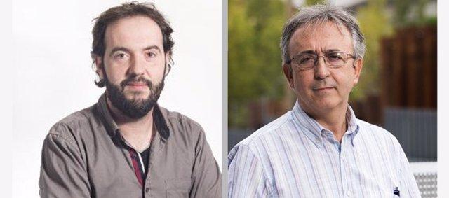 Los investigadores David Sebastián (izda) y Antonio Zorzano