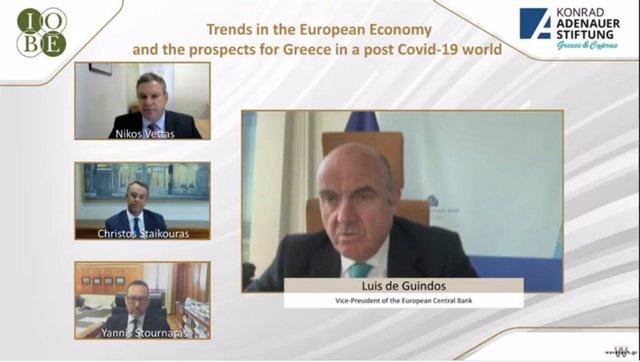 UE.- Guindos (BCE) dice que el acuerdo de la UE envía una señal muy clara y posi