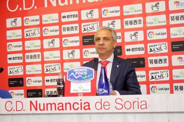 El presidente del Numancia explica el recurso presentado por la suspensión del Deportivo-Fuenlabrada.