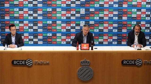 Rueda de prensa del RCD Espanyol de planificación de la temporada 2020/21