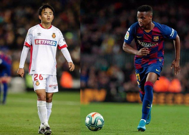 Fútbol.- Take Kubo y Ansu Fati, en el Equipo Revelación de LaLiga según 'uefa.co