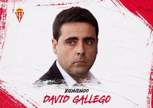 El entrenador David Gallego, nuevo técnico del Real Sporting de Gijón