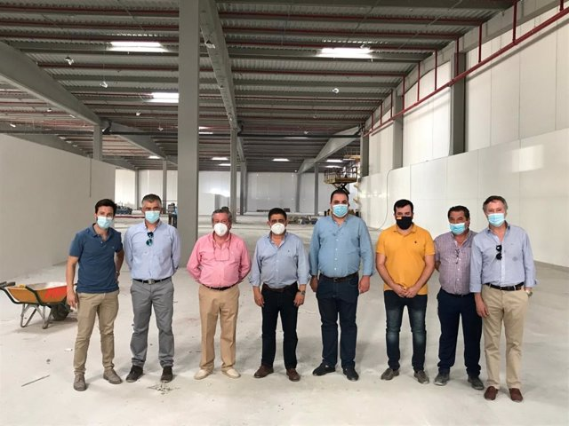 Visita a las instalacioones de Transportes Francisco Bonilla en Martos