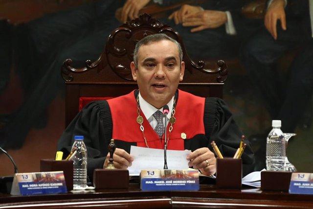 El presidente del TSJ de Venezuela, Maikel Moreno.