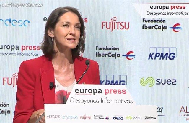 Reyes Maroto en los Desayunos Informativos de Europa Press.