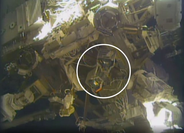 Un 'hotel para robots' instalado en el exterior de la Estación Espacial