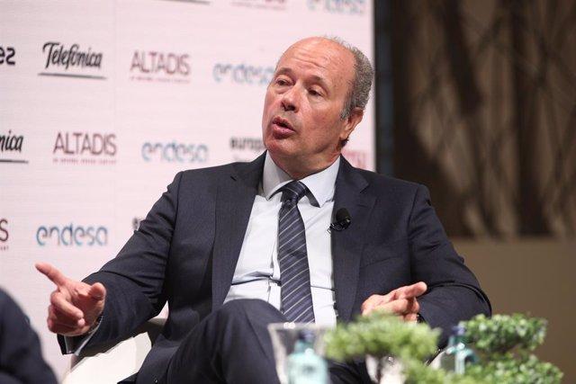 El ministre de Justícia, Juan Carlos Campo, en un dels Esmorzars Informatius d'Europa Press. Madrid (Espanya), 13 de juliol del 2020.
