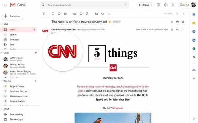 Gmail verificará la identidad de las empresas con un logo para evitar correos ma