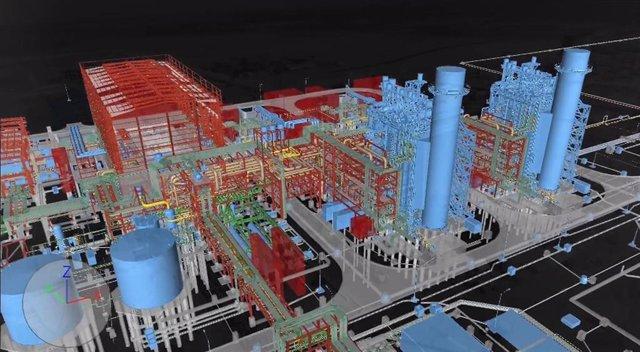 Sener, diseño en 3D de una central de ciclo combinado