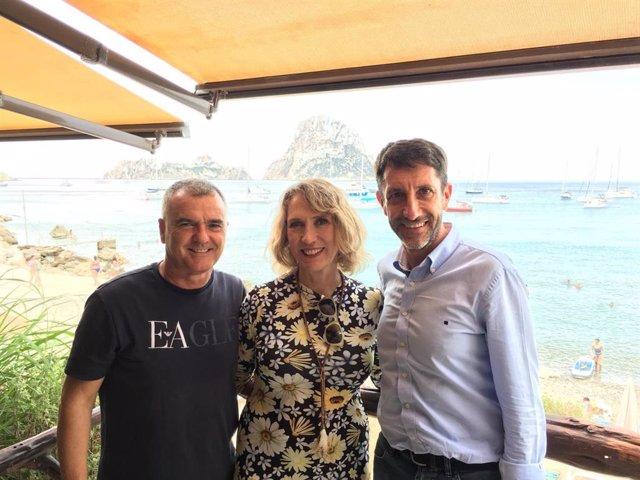 Representantes de El PI y Más Eivissa