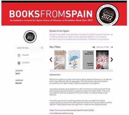 Gobierno y editores lanza el portal 'Books from Spain' para impulsar venta de derechos de traducción de obras españolas