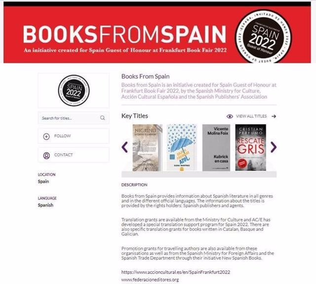 Portal 'Books from Spain'