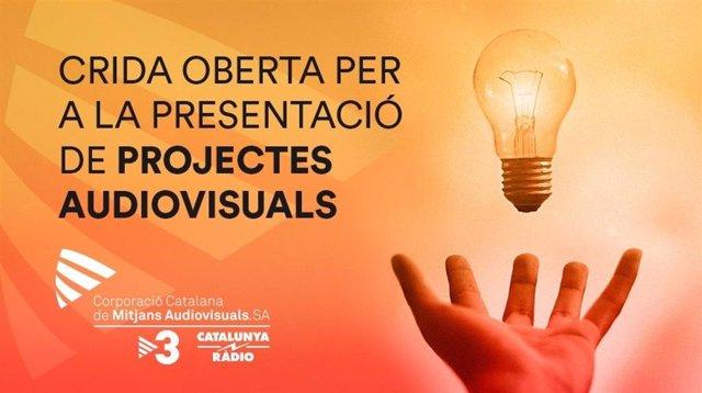 Cartel del llamamiento de la CCMA para proyectos audiovisuales