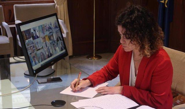 La consellera de Hacienda y Relaciones Exteriores, Rosario Sánchez.