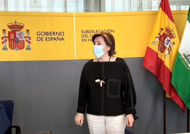 La delegada del Gobierno en Andalucía, Sandra García, en una imagen de archivo.