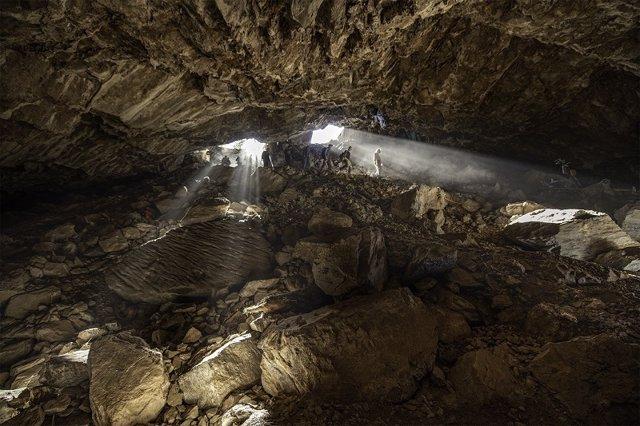 Aspecto de la cueva Chiquihuite