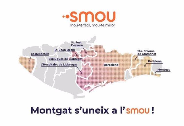 Montgat (Barcelona) s'uneix a l'app de mobilitat metropolitana Smou