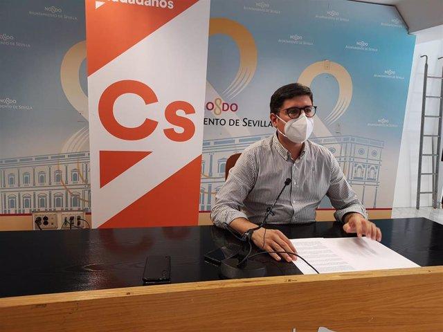 El portavoz de Ciudadanos (Cs) en el Ayuntamiento de Sevilla, Álvaro Pimentel