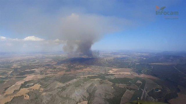 Incendio en Agramón