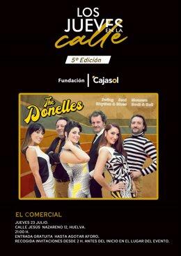 Cartel de la actuación de 'The Donelles'