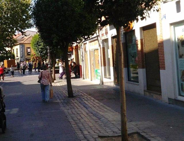 Zona comercial en la localidad de Getafe.