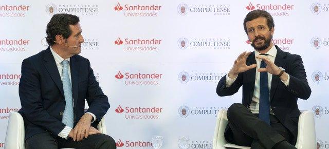 El presidente de CEOE, Antonio Garamendi, y el presidente del PP, Pablo  Casado.