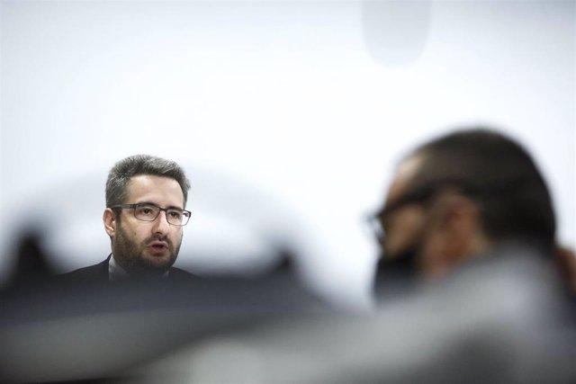 El ministro de Finanzas y Portavoz andorrano, Eric Jover.