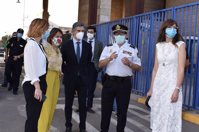 La delegada del Gobierno en una visita reciente a la frontera
