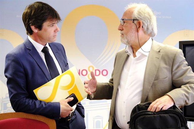 David Guevara, a la izquierda de la imagen